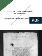 Ejecutoria Del Pleito Litigado Por Alfonso de Villena, Vecino de Albacete, Con El Concejo, Justicia y Regimiento de Albacete, Sobre Honores y Preeminencias Caja 0021.0027 Real Chancilleria de Valladolid 1489-04