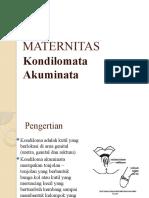 MATERNITAS ppt Kandiloma Akuminata
