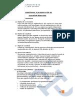 003 Memorándum de Planificación de Auditoria