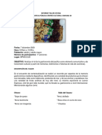 Informe Taller Cocina 2020