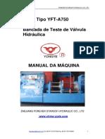 machinery manual (YFT-A750) Portuguese