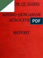 R. A. Reiss to Kingdom of Serbia - Austro-Hungarian Atrocites -  Report [1918]