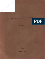 Art and Archaeology 1933-1937