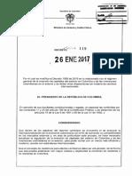 Decreto 119 Del 26 Enero de 2017 (1)