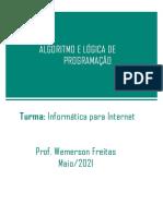 Algoritmo e Lógica de Programação_13_05_21 - Informatica para Internet_Google Class