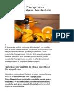 Huile essentielle d'orange douce _ calmante et anti-stress - beautecherie