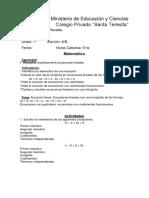 Cuestionario de Matematica (2)