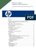 c01768750 - HP Data Protector 6.1 VMware Integration Installation Best Practice