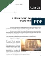 Aula08 - Introdução Histórico-Literária à Bíblia