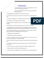 50 Interesting Facts.