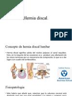 Hernia Discal y Dolor Lumbar
