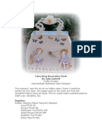 RRA Winter Edition 2011 Judy Cantrell Tin Clock With Faerie Song