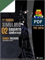 2° GABARITO TIRO CERTO COMENTADO PMCE