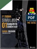 1° GABARITO COMENTADO TIRO CERTO