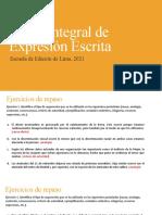 Expresión Escrita - Sesión 12
