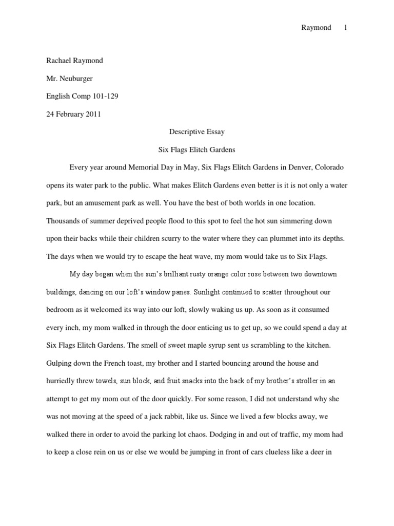 six flags essay