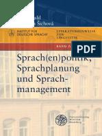 Dovalil-Šichová - Sprach(en) Politik Sprachplanung Sprachmanagement