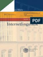 Konstanze Marx - Internetlinguistik