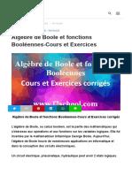 Algèbre de Boole page 1