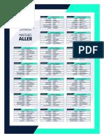 Calendrier 2021-2022 de l'AJA