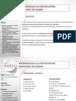 Gestion de projet_Programme PREPA CERTIF GREEN BELT