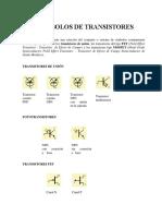 SÍMBOLOS DE TRANSISTORES