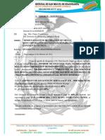 INFORME  N° 035– 2021 – MDSMCH – GDUR-N.Y.C. REQUERIMIENTO ESTADIO
