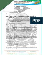 INFORME  N° 037– 2021 – MDSMCH – GDUR-N.Y.C. informe situacional de vivero