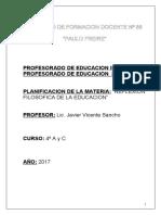 Reflexion Filosofica de La Educacion 88. 2017 Programa