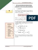 Ecuaciones de 2do. Grado 4