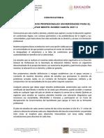 Convocatoria Universidad Bienestar Benito Juarez