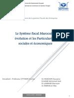 Le Système Fiscal Marocain - Évolution Et Les Particularités Sociales Et Économiques