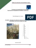 Exemplos de análise de contenções com modelos de vigas