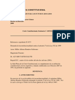 Sentencia C-1053-01