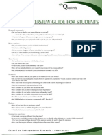 cur interview guide for students