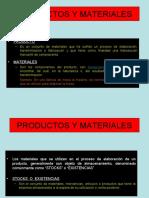 1.5 PRODUCTOS Y MATERIALES