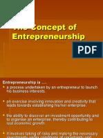 The Concept of Entrepreneurship