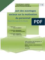 Rapport de Stage de Fin d'Études (Marsa Maroc)