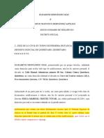 Demanda - Juicio Desahucio Querétaro Sra. Elizabeth 1