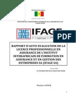 IFAGE RAPPORT 5- ANAQ SUP LICENCE ASSURANCE AUTO EVALUATION ANAQ SUP