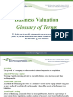 Business Valuation Glossary of Terms