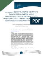 GÊNESE DO DESENVOLVIMENTO CIENTÍFICO E TECNOLÓGICO NA AMÉRICA LATINA 2017