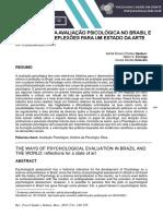 Os Caminhos Da Avaliação Psicológica No Brasil