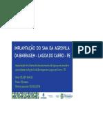 Placa da Obra da Agrovila