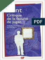 [GF 1088] Kant, Immanuel_Renaut, Alain - Critique de la faculté de juger (2015, Flammarion) - libgen.lc