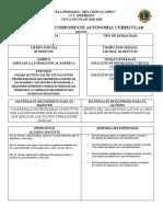 Proyecto de autonomía curricular- SOLUCIÓN DE PROBLEMAS Y RETOS COGNITIVOS.