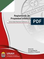 Reglamento de Propiedad Intelectual e Innovacion de La UNAH