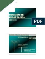 3. Regimenes y modalidades de Importacion