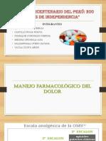 Manejo Farmacológico Del Dolor PRACTICA