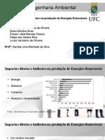 Impactos diretos e indiretos na produção de Energia Renovável